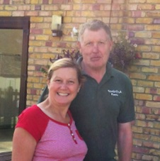 Gillian and Martin at Scald End Farm Shop