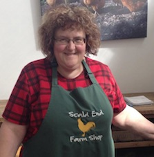 Mary in teh Scald End Farm Shop